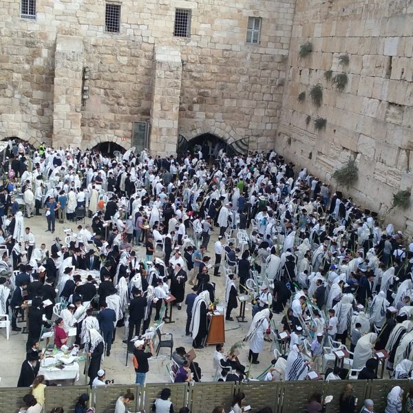 Praying at the Kotel